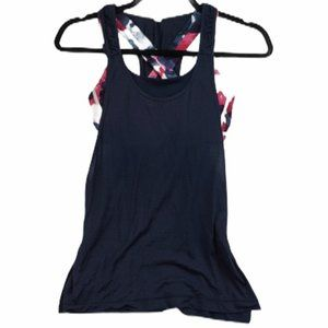 Lululemon Practice Freely Navy Floral tank top